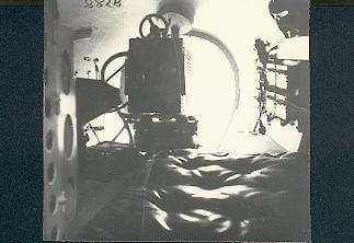 Camera in the nose of an AVRO ANSON V
