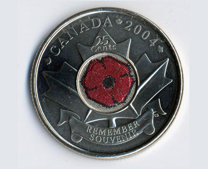 Image of Canadian Poppy Coin