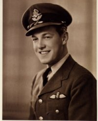 Photo of Pilot Officer Chalmers Goodlin taken Dec 5, 1941 in Dunnville, Ontario