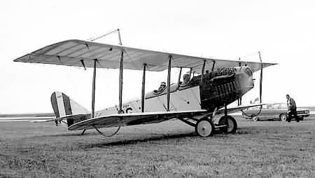 Canada first airmail Curtiss-JN4