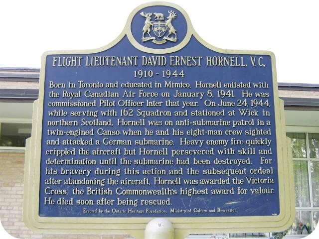 David Hornell Ontario Heritage Trust plaque
