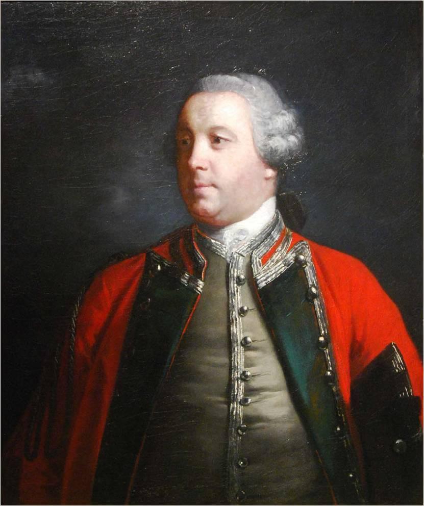 Portrait of Edward Cornwallis 1756