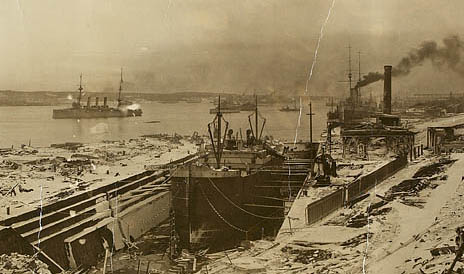 Shipyard at Halifax Nova Scotia Explosion of 1917