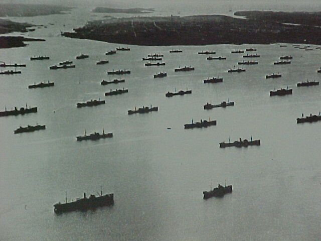 Halifax Harbor during Explosion of 1917