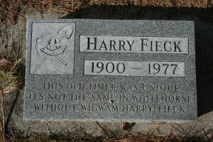 Grave Marker for Harry Fieck