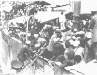Komagata Maru Steamer Image with Passengers on Ship.