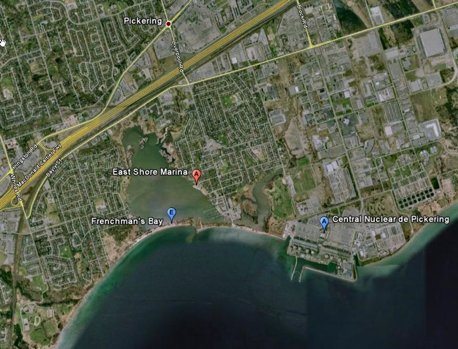 Map showing last locatin of Lost Boys of Pickering