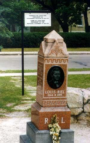 Louis Riel Gravestone Monument