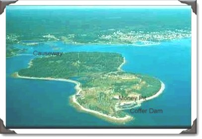 Oak Island Money Pit Treasure Novia Scotia Arial Image