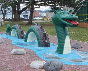 Ogopogo Statue in park