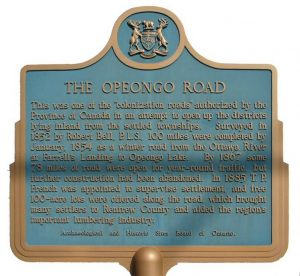 Plaque on the opeongo line
