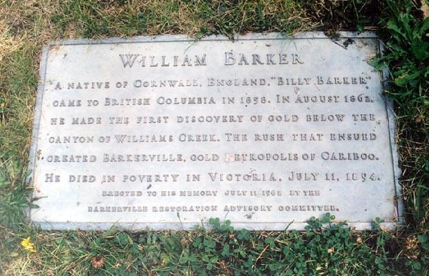 Grave Stone of Billie Barker
