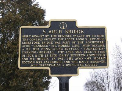 Stone Arch Bridge in Avon New York