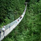 Picture of People walking over the Capilano Suspension Bridge