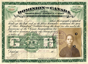Dominion of Canada Chinese Note