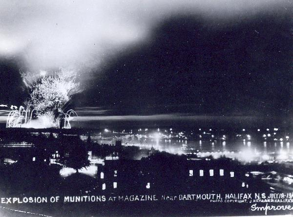 The Halifax Explosion at Night