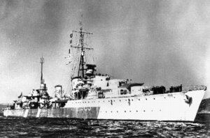 Destroyer of the Tribal class HMCS Haida (G 63)