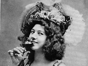 Klondike Kate Ryan Drinking Wine