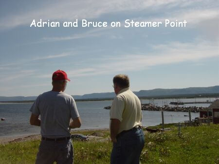 Adrian Payne and Bruce Ricketts at Steamer Point Cow Head Great Northern Peninsula of Newfoundland Labrador