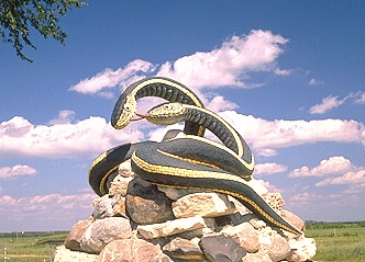 Statue of Snakes in Narcisse Manitoba