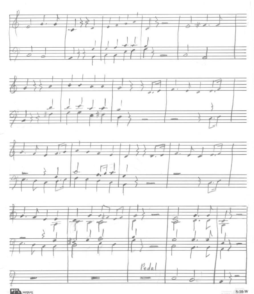 o canada original score sheet