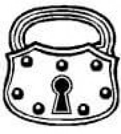 drawing of padlock law