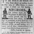 Old Negroe slavery advertisement