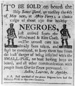 Old Negroe slavery advertisement