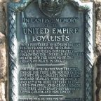 United Empire Loyalists Plaque