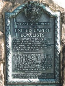 Image of United Empire Loyalists Memorial Plaque