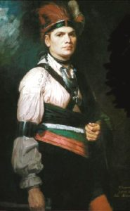 Joseph Brant by George Romney. Painted in London in 1776