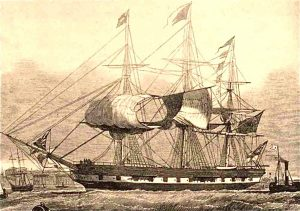 The Marco Polo, the Fastest Clipper Ship in the World Entering Harbor