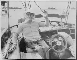 President Franklin D. Roosevelt Sailing off Campobello Island