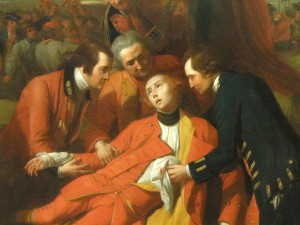 Detail, The Death of General Wolfe by Benjamin West