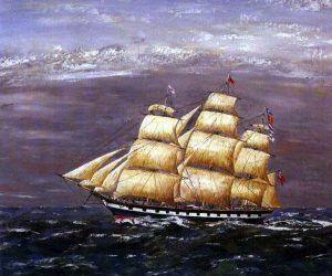 The Clipper Ship Marco Polo in Full Sail