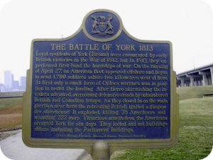 Battle of York Plaque