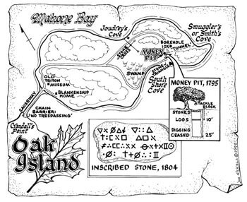 Image result for oak island treasure map