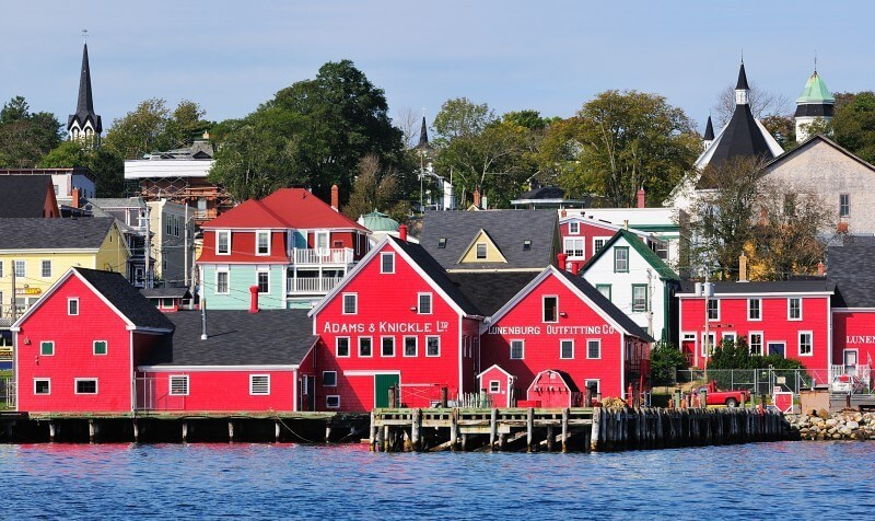 The harbourfront of Lunenburg, Nova Scotia
