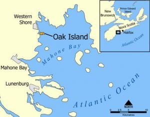 Where is Oak Island Map