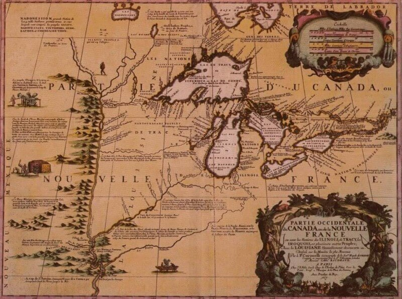 Map of New France - Capital of Canada
