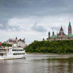 Capital of Canada Ottawa, ferry in Ottawa River