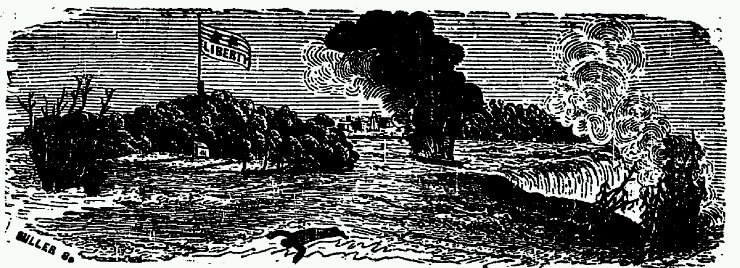 Early Drawing of The Caroline Affair.