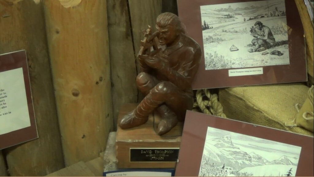 A sculpture of David Thompson from the Windemere Valley Museum in Invermere, BC.