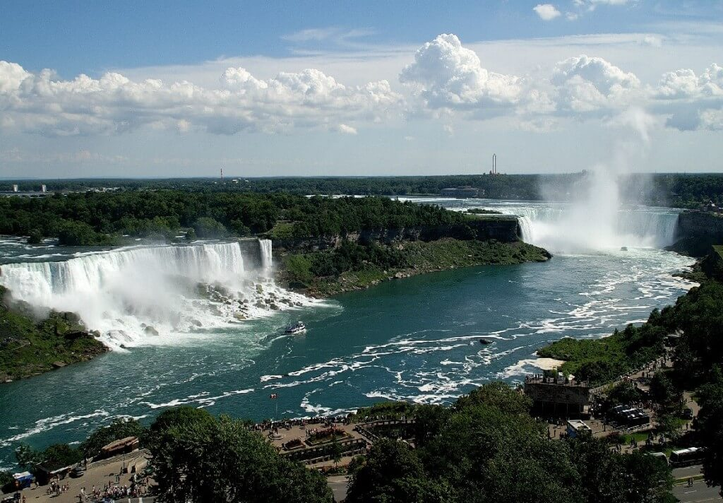 Arial view of Niagara Falls