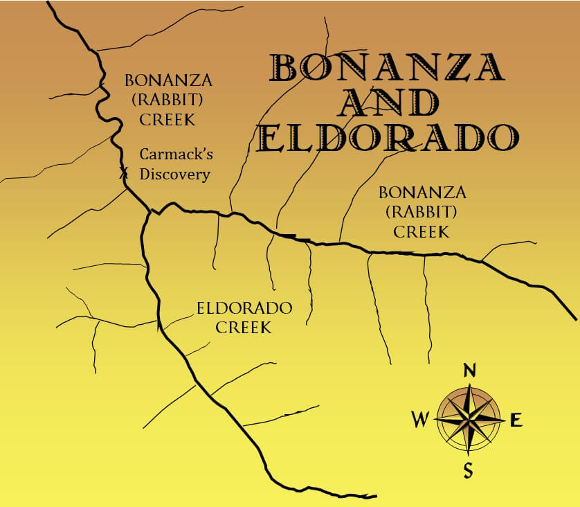 Bonanza Creek and Eldorado Creek.