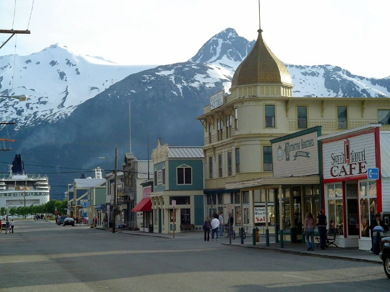 The streets of present-day Skagway, Alaska.
