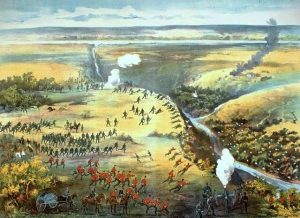 The Battle of Fish Creek during the North-West Rebellion.