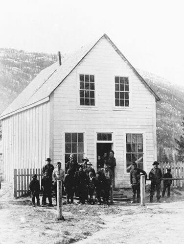 John Healy's trading post at Dyea, Alaska.