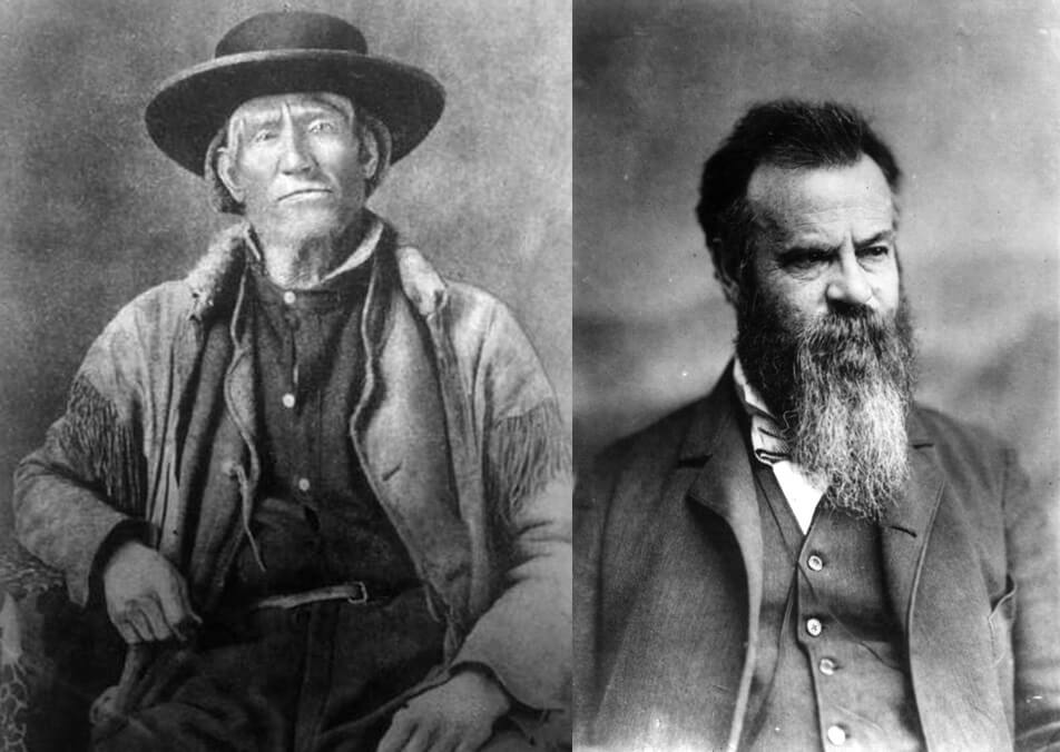 Jim Bridger and John Wesley Powell, two of young John Healy's idols.