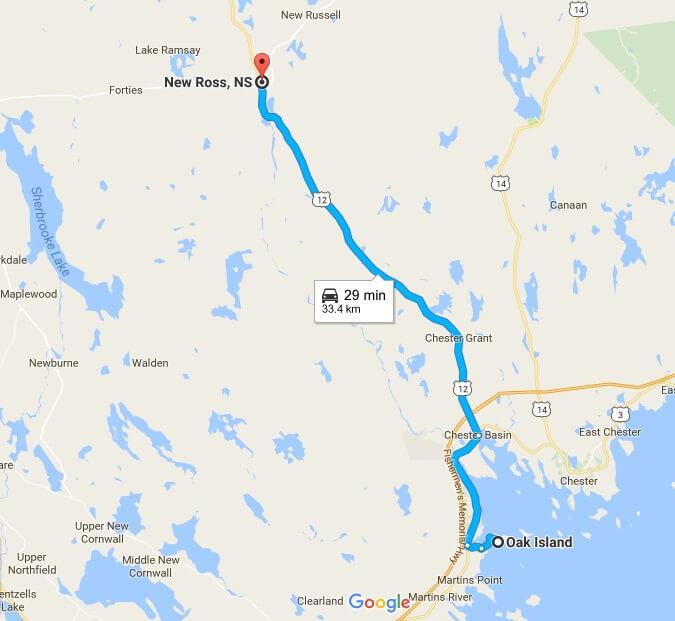 Google Maps Oak Island Nova Scotia